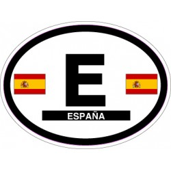 Oval Reflective Decal Spain