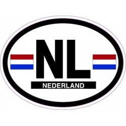 Oval Reflective Decal Netherlands
