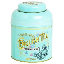 Victorian Tea Tin with 80 English Breakfast Teabags
