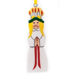 Lucia Wooden Christmas Ornament