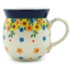 Polish Pottery Bubble Mug - 8 oz - Buttercup