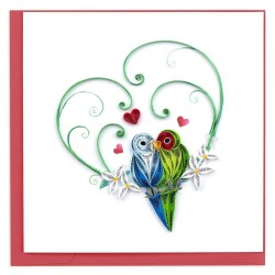 Quilling Card - Love Birds