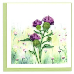 Quilling Card - Scottish Thistle