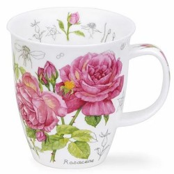 Fine Bone China Mug - Floral Sketch Rose