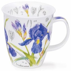 Fine Bone China Mug - Floral Sketch Iris