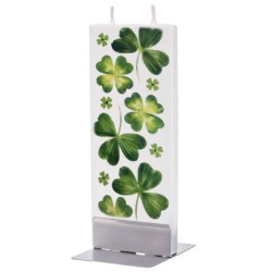 Flat Candle - Irish Shamrocks & Clovers