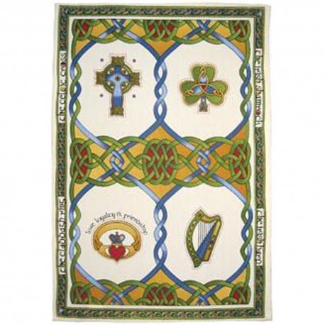 Irish Emblems Tea Towel