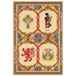 Scottish Emblems Tea Towel