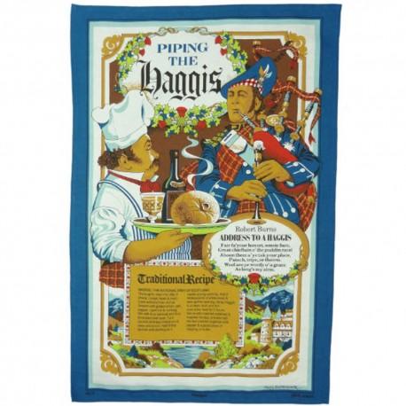 Piping the Haggis Scottish Tea Towel