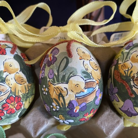 Eggshell Ornament Chicks by Peter Priess