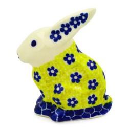 Polish Pottery Rabbit Figurine - Sunburst