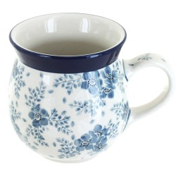 Polish Pottery Bubble Mug - 16 oz - Victorian Splendor