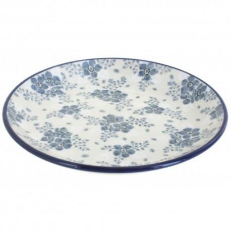 "Polish Pottery Plate - 8"" - Victorian Splendor"