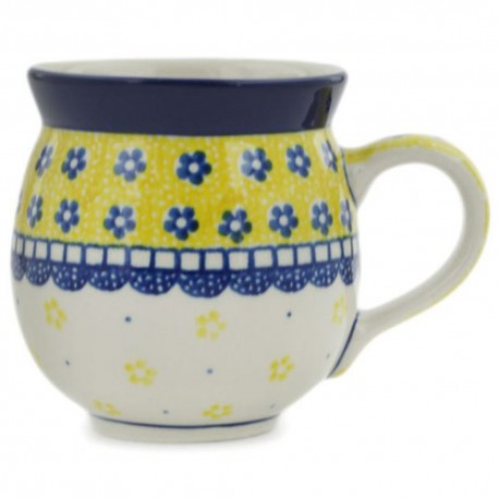 Polish Pottery Bubble Mug - 12 oz - Sunshine