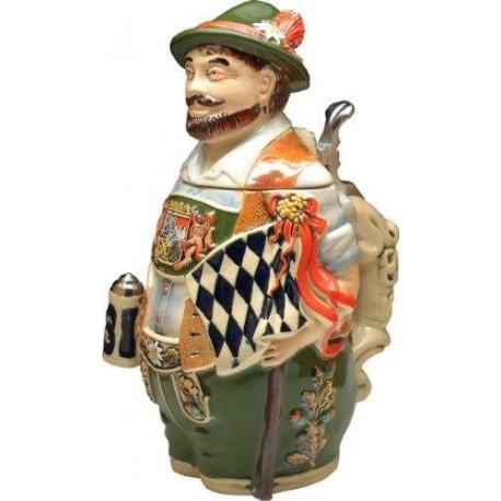 Bavarian Figural Beer Stein