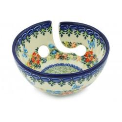 Polish Pottery Yarn Bowl - Butterfly Garden