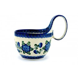 "Bowl - 4"" with Handle - Blue Poppy"