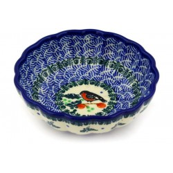 "Scalloped Bowl - 5"" - Red Bird"