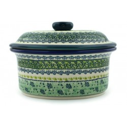 "Dish with Lid - 8"" - Green Meadow"