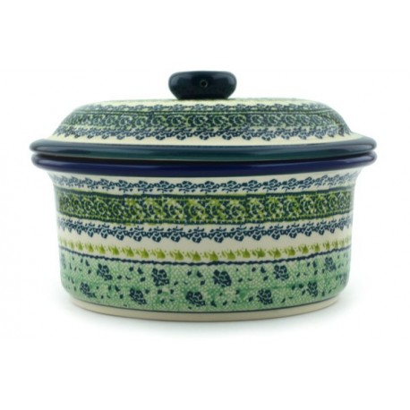 """Dish with Lid - 8"""" - Green Meadow"""