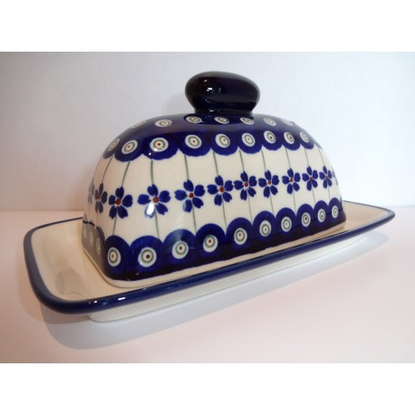 Butter Dish - American-Style - Floral Peacock